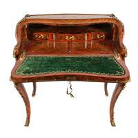19thc Louis XV Style Marquetry Bureau en Pente (10 of 14)
