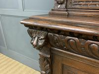 Imposing Carved Oak Bookcase (14 of 23)