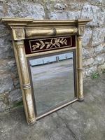 Regency Gilt Pier Mirror With Red Velvet Panel (5 of 7)