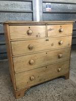 Victorian Large Stripped Pine Chest of Drawers (3 of 6)