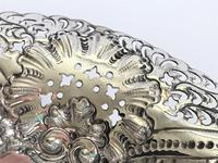 A Gorgeous Victorian Pierced Silver Dish (3 of 7)