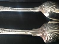 Pair of Paul Storr Antique Georgian Silver Coburg Tablespoons (8 of 8)
