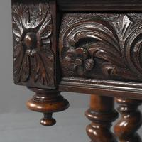Antique Oak Flemish Writing Table (5 of 15)