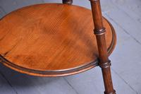 Victorian Two-tier Walnut Gypsy Table (4 of 5)