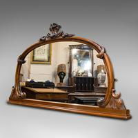 Antique Overmantel Mirror, English, Walnut, Glass, Hall, Victorian, Circa 1860 (8 of 9)