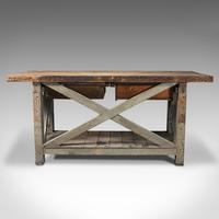 Large Antique Silversmith's Bench, English, Pine, Craftsman's Table, Victorian (6 of 10)