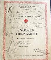1939  Signed Snooker Tournament Souvenir Programme from Sunday 17th December 1939 & Signed by Numerous Sport Stars & Celebrities (2 of 4)