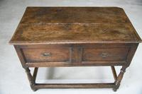 Antique Rustic 18th Century Oak Side Table (6 of 11)