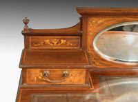 Late 19th Century Rosewood & Marquetry Ladies Writing Table (3 of 4)
