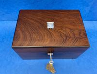 Victorian Rosewood Box with Mother of Pearl Inlay (5 of 11)