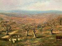 Large Superb Original 19thc West Sussex 'Tilgate Forest' Landscape Oil Painting (6 of 12)