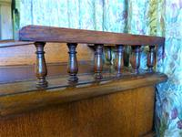 Edwardian Oak Pedestal Desk with Gallery (8 of 9)