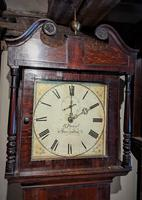 19th Century Oak & Mahogany Cottage Longcase Clock (4 of 5)