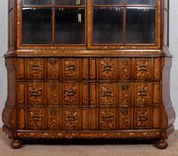 Dutch Bombe Bookcase Vitrine Display Cabinet on Chest Glazed (7 of 17)