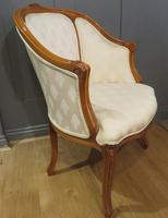 Louis XVI Style Tub Backed Armchair Newly Upholstery (2 of 9)