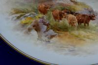 Royal Worcester 1914 Dish - Highland Cattle - Hand-painted by John Stinton (7 of 8)