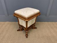 Victorian Walnut Stool / Work-Box (10 of 12)