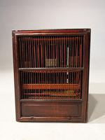 Most Unusual 1920's Hardwood & Lacquered Bird Cage (4 of 9)