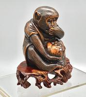 Signed Netsuke of a Monkey (2 of 8)