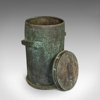 Antique Grain Bin, French, Copper, Farmhouse Silo, Fireside, Victorian c.1890 (7 of 9)