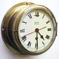 Superb Antique English Smiths Bulkhead Wall Clock 8 Day Ships Clock (9 of 11)