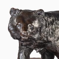 Large Meiji Period Bronze Bear by Genryusai Seiya (2 of 7)