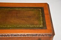 Antique Burr Walnut Leather Top Writing Table / Desk (9 of 10)