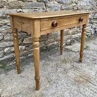 Antique Pine Side Table with Drawer (4 of 14)