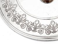 Victorian Oak and Silver Plated Barrel with a Carved Band of Oak Leaves and Acorns (4 of 4)