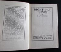 1934 1st Edition - Right Ho, Jeeves by P G Wodehouse (2 of 3)