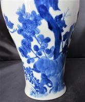 Chinese Blue & White Hand Painted Porcelain Vase, Kangxi Mark & Period c.1700 (13 of 13)