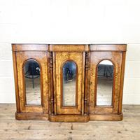 Victorian Inlaid Walnut Credenza with Marble Top (2 of 10)