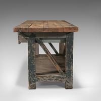 Large Antique Silversmith's Bench, English, Pine, Craftsman's Table, Victorian (5 of 10)