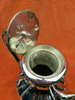 Antique Pumpkin Shaped Silver Plated Coffee Water Tea Pot c.1830 (8 of 13)
