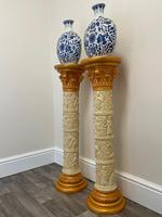 Dutch Golden Age Style Gilt Harvest Relief Plinth Display Torcheres (4 of 87)