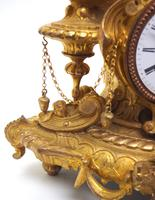 Wow! Incredible French Gilt Metal Mantel Clock Striking 8-Day Mantle Clock (8 of 10)