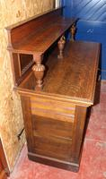 1920s Arts & Craft Style Carved Oak Sideboard with Back (5 of 9)