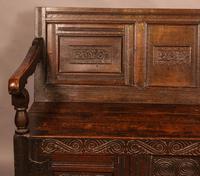 Antique Oak Settle (5 of 11)