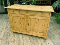 Large Old Pine Dresser Base Sideboard / Cupboard /  TV Stand - We Deliver (2 of 9)