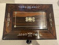 William IV Rosewood Sarcophagus Box with Inlay (11 of 13)