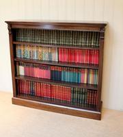 Late 19th Century Open Mahogany Bookcase (8 of 10)