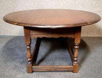 Oak Drop Leaf Occasional - Coffee Table Wood Bros, Old Charm Furniture (7 of 11)