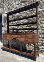Antique Georgian Oak Potboard Dresser (3 of 28)