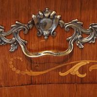 Continental Marquetry Bombe Commode Chest (9 of 14)