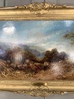 Antique Victorian landscape oil painting entitled Lunch Time by PG Hewett (9 of 11)