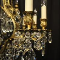 French Gilded Bronze & Crystal Antique Chandelier (5 of 10)