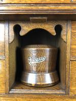 Antique Edwardian Oak Smoker's Cabinet (M-1571) (7 of 12)