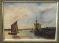 Fishing Vessels Comming Into Harbour by C.m.maskell 1846-1933 (2 of 5)