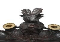 Black Forest Carved Inkwell Desk German Cuckoo Bird 1880 (8 of 8)