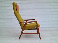 Alf Svensson, 60s, Armchair Model Kontur, Completely Restored, Furniture Wool (3 of 16)